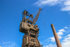 Rusty old crane Royalty Free Stock Images