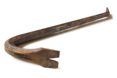 Rusty Old Crowbar Royalty Free Stock Photos