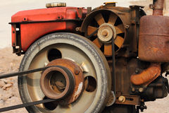 A rusty of old diesel engine Stock Photography