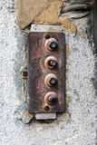 Rusty old door bell Royalty Free Stock Images