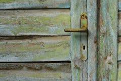 Rusty Old Door Knob & x28; Handle& x29; , Tsjechische Republiek Stock Foto's