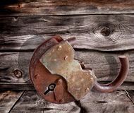 The rusty old door-lock Royalty Free Stock Image
