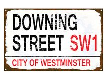 Downing Street Enamel Sign Royalty Free Stock Photography