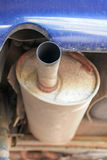 Rusty old exhaust pipe Stock Images
