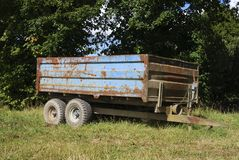 Rusty old farm trailer Stock Photography