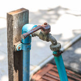 Rusty Old Faucet Royaltyfri Foto
