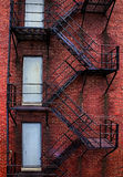 Rusty Old Fire Escape Fotografia Stock