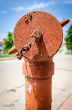 Rusty Old Fire Hydrant Stockfotos