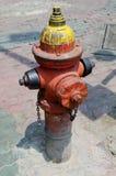 Rusty Old Fire Hydrant tappningstil royaltyfri fotografi