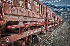 Rusty old freight wagon Stock Photo
