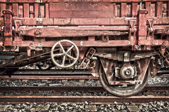 Rusty old freight wagon Stock Image