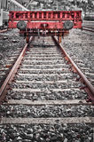 Rusty old freight wagon Stock Images