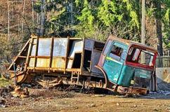 Rusty old garbage car Stock Photo