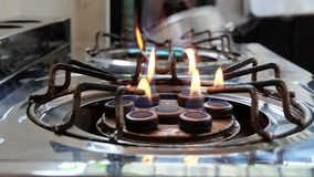 Rusty old gas stove Royalty Free Stock Photography