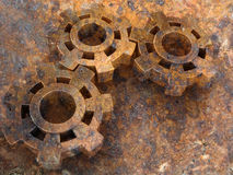 Rusty old gears Royalty Free Stock Photo