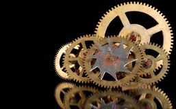 Rusty old gears from a clock Royalty Free Stock Photography