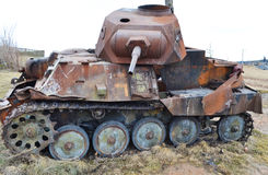 Rusty old german military tank Stock Image