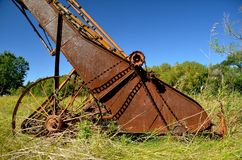 Rusty Old Haywalker Stockbilder