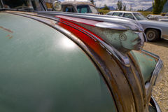 Rusty old hood ornament vintage farm truck fender Royalty Free Stock Images