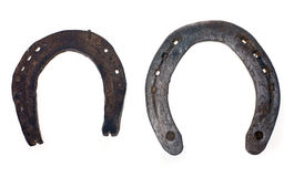 Rusty old horseshoe. On white background Stock Photo