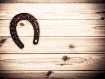 Rusty Old Horseshoe On Barn Fotografie Stock Libere da Diritti
