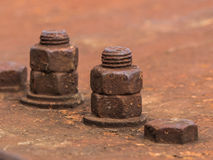 Rusty Old Industrial Screw Royaltyfri Bild