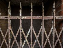 Rusty Old Iron Gate stock images
