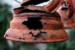Rusty old kerosene lamp Royalty Free Stock Photo