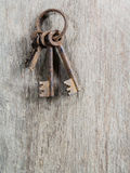 Rusty old key Stock Photo