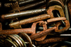 Rusty old keys Royalty Free Stock Image