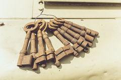 Rusty old keys Stock Photo