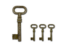 Rusty old keys Royalty Free Stock Photo