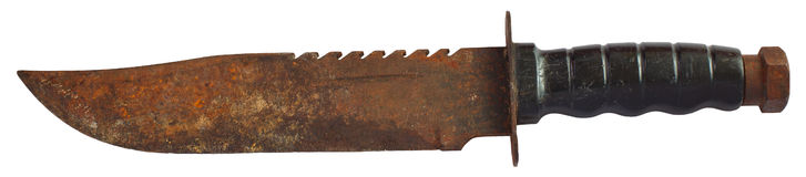 Rusty old knife Stock Images