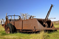 Rusty old manure spreader Royalty Free Stock Photography
