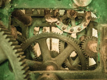 Rusty old Mechanism. The inner workings of a rusty old gear driven mechanism Royalty Free Stock Images