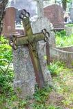 Rusty old metal crucifix Royalty Free Stock Photos