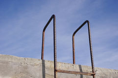 Rusty old metal ladder Royalty Free Stock Photography