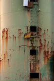 Rusty old metal silo Stock Photos