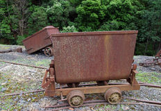 Rusty old mining wagon Royalty Free Stock Images