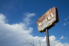 Rusty Old Motel Sign Royalty Free Stock Photos
