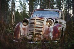 Antique OAO Moskwitsch vintage car Royalty Free Stock Photo