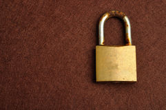 A rusty old pad lock Royalty Free Stock Photo