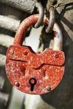 Rusty old padlock Stock Photos