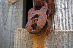 Rusty old padlock. Rusty old badly corroded padlock Stock Image