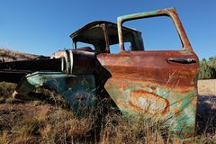 Rusty old pickup truck Stock Photo