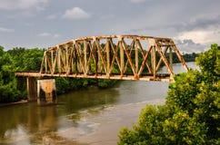 Free Rusty Old Railroad Bridge Stock Photo - 33293680