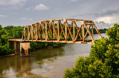 Rusty Old Railroad Bridge Stock Photo