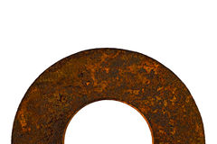 Rusty old round metal washer spacer Stock Photos