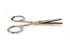 Rusty old scissors royalty free stock images