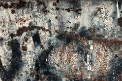 Rusty old scratched metal textured background Royalty Free Stock Image